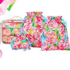 NEW Lilly Pulitzer Wash & Wear Bag Baubles Laundry 3 BAGS Pink First Impression