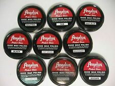 Angelus Shoe Boot Polish Shine Leather PASTE WAX Protector Waterproof 3 oz. Can