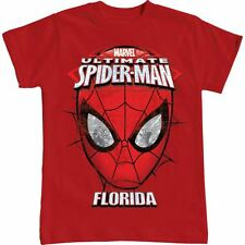 Disney Marvel Spiderman Florida Spider Man Red Girls Youth Boys T shirt Tee Top