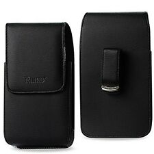 For Cell Phone Premium Vertical Leather Magnetic Flip Cover Holster Case Pouch