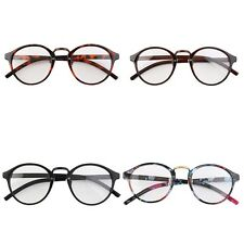 Retro Geek Vintage Nerd Large Frame Fashion Round Clear Lens Glasses  EM