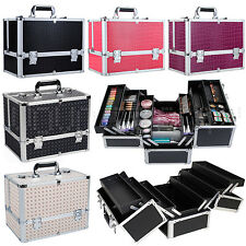 Professional Extra Large Beauty Cosmetic Box Jewelry Make Up Vanity Case Saloon