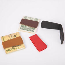 Men's Fashion Genuine Leather Magnetic Money Clip Mini Holder Wallet Trustful