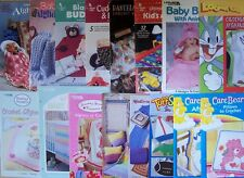 Crochet PATTERNS BABY & KID'S AFGHANS BLANKETS PILLOWS CAPES *YOU CHOOSE