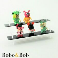 Model Display Stand, Tiered, Collectables, Black Acrylic, 3 Sizes, 4 Designs