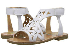Rachel Shoes DELMAR Girls Youth White Smooth Open Toe Ankle Strap Cutout Sandals