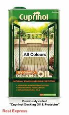 Cuprinol Decking Oil & Protector - 5 Litre - Now UV Guard Decking Oil WB (5L)