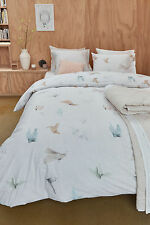 300TC Bedding House Origami Cotton Quilt Doona Cover Set - Queen King SUPER King