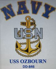 USS OZBOURN  DD-846* DESTROYER* U.S NAVY W/ ANCHOR* SHIRT
