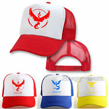 Pokemon Go Baseball Cap Cosplay Team Mystic InstInct Valor Hip Hop Hat Snapback