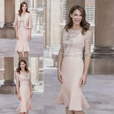 3 Pieces Mother Of The Bride Dresses Custom Lace Formal Gowns Knee-Length 2017
