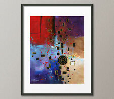 Gallery Canvas and Fine Art Prints Abstract Contemporary Painting Modern Red Art
