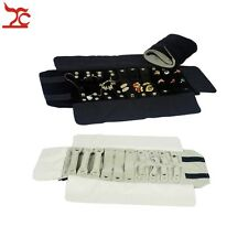 Jewelry Display Pouch Black Bracelet Ring Earring Organizer Jewelry Roll Bag