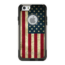 OtterBox Commuter for iPhone 5S SE 6 6S 7 Plus Red White Blue USA Flag Old
