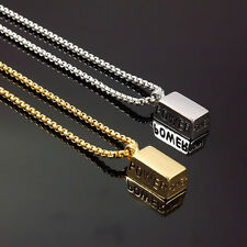 Men's Fashion Jewelry Silver Gold Power Pendant Stainless Steel Chain Necklace