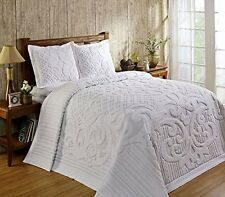 Queen Size Bedding Heavy Weight 100-Percent Cotton Chenille Tufted Bedspread