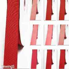 "Grosgrain Ribbon 1/2"" /13mm. Wholesale 100 Yards, Rose to Red s Color Thin"