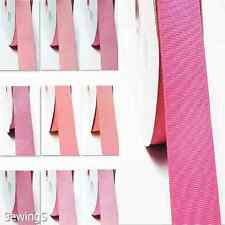 "Polyester Grosgrain Ribbon 5/8"" / 16mm Thin  Wholesale 100 Yards, all Pink Bulk"