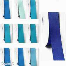 """Top Quality Grosgrain Ribbon 1"""" / 25mm 100 Yards, Lot Blue s #352 to #374"""