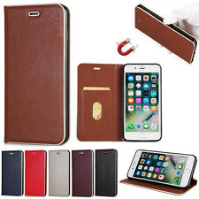 Luxury Leather Magnetic adsorption Card Stand Wallet Case For iPhone 6/7/7 Plus