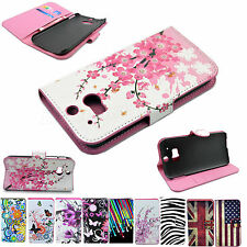 Flip Leather Card ID Wallet Slot Holster Pouch Phone Case Cover For HTC One 2 M8