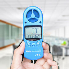 Digital LCD Display Handheld Anemometer Air Wind Speed Gauge Meter Thermometer