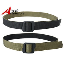 Tactical Military Double-sided Nylon Duty Belt w Buckle Black/Olive Drab M-XXL