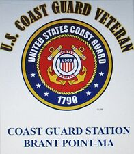 US COAST GUARD STATION BRANT POINT-MA*COAST GUARD VETERAN EMBLEM*SHIRT