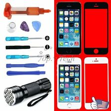 For iPhone 5 5s 5c OEM Front Outer Touch Screen Glass Lens Replacement Tools Kit