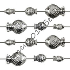Tibetan Silver Fish Bracelet Connector Charm Craft For Jewelry Making Beads