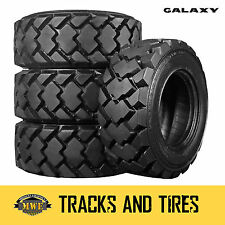 12-16.5 (12x16.5) Galaxy Hulk 12-Ply Skid Steer Tires: Pick Your Rim Color
