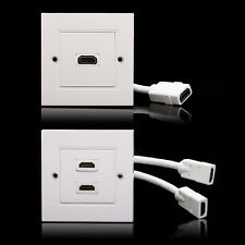 2 Port HDMI Wall Plate Face Panel For Home Theater DVD Cable Satellite TV HDTV