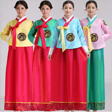 Luxury Korean Traditional Clothes Dress HANBOK WOMAN with silver hanbok