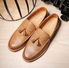 Casual Mens Loafers Tassels Slip On Driving Moccasins PU Leather Shoes Solid Sz