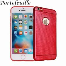 Portefeuille For iPhone 7 Case Electroplate Carbon Fiber Phone Cover For Apple i