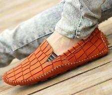 Mens Leather Loafers Driving Moccasins Boat Shoes Slip On gommino Casual Shoes