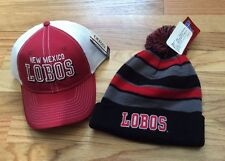 NEW MEXICO LOBOS EMBOIDERED BASEBALL CAP HAT NWT Or Beanie scull cap NEW!!!