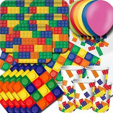 Block Essential Party Pack. Includes:Plates, Cups, Napkins, Tablecover, Balloons