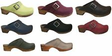 Sanita Urban Open Oil Leather Womens Clogs Womens Shoes Shoes Woodclogs - NEW