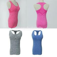 Ladies Womens Sports Vest Top Running Gym Vest Active Wear Yoga Padded Top