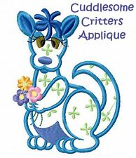 CUDDLESOME CRITTERS APPLIQUE - MACHINE EMBROIDERY DESIGNS ON CD