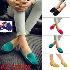 Women Slip On Flat Moccasin Work Driving Casual Lazy Peas Shoes Loafers Oxfords