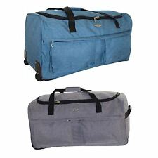 Travel Holdall Suitcase Luggage Duffle Bag Heavy Duty Zip Carry Wheelie Holiday