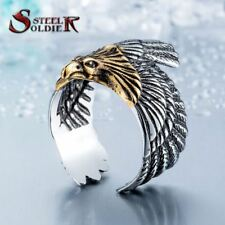 Steel soldier Unique jewelry Stainless Steel Biker Eagle Ring Man's High Quality