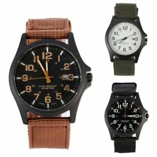 Fashion Nylon Strap Waterproof Date Quartz Watch Army Mens Quartz Wrist Watches