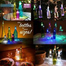 Cork Shaped Rechargeable USB LED Wine Bottle Stopper Night Light Table Lamp Xmas