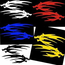 Car Wolf Head Hood decals Motorcycle Decal Vinyl Graphics stickers 10cm X 14cm