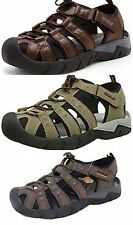Gola Mens Shingle 2 Toggle Outdoor Trekking Sandals Dark Brown, Taupe and Brown