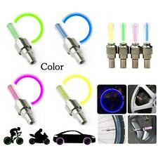2 pcs Bike Bicycle Car Tyre Wheel Tire Valve Flashing Neon Spoke LED Lamp Light