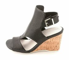 Kenneth Cole Womens Issac Perf Leather Open Toe Casual Wedged Sandals